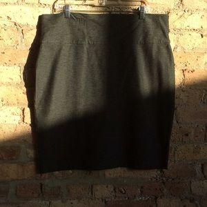 Eileen Fisher gray skirt